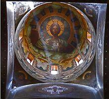 Dome, St Nicholas Russian Church, Bucharest, Romania by Margaret  Hyde
