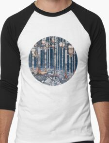 Owl Forest Men's Baseball ¾ T-Shirt