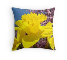 Floral Spring Art Yellow Daffodil Flowers Baslee Troutman Throw Pillow