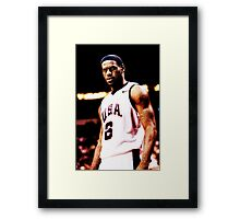 The King Lebron James USA Framed Print
