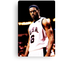 The King Lebron James USA Canvas Print
