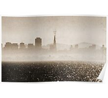 San Francisco and fog Poster
