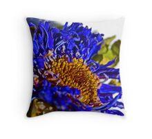 Blue Death Throw Pillow