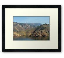 Sinking waterline Framed Print