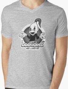 Retro Abe Mens V-Neck T-Shirt