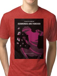 No277-007 My Diamonds Are Forever minimal movie poster Tri-blend T-Shirt
