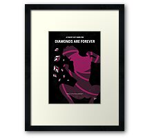 No277-007 My Diamonds Are Forever minimal movie poster Framed Print