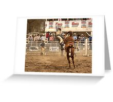Rodeo Cowboy is Thrown from his Horse Greeting Card