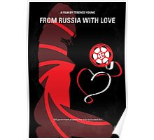 No277-007 My from Russia with love minimal movie poster Poster