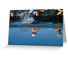 Reflections on rowing Greeting Card