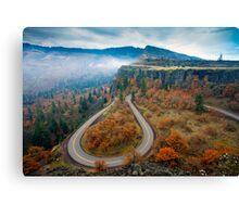 Autumn Hairpin Turn Canvas Print