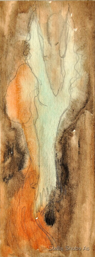 Green Lady in the brown by Stella  Shube As