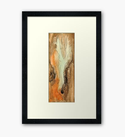 Green Lady in the brown Framed Print