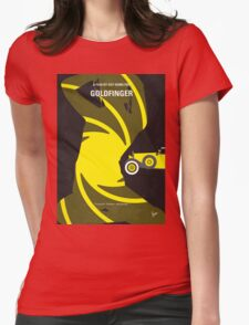 No277-007 My Goldfinger minimal movie poster Womens Fitted T-Shirt