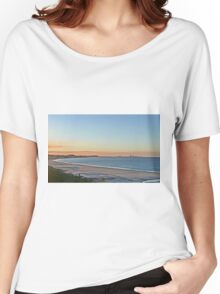 Sunset on Bilinga Beach and Surfers Paradise, Qld, Australia Women's Relaxed Fit T-Shirt
