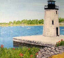Goat Island Lighthouse - Newport RI by jackmck1
