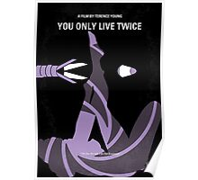 No277-007 My You Only Live Twice minimal movie poster Poster
