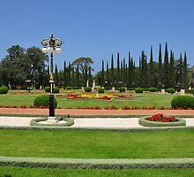 Bahai Gardens Acre Israel. by Andrei Badescu
