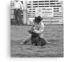 Calf Roping Canvas Print