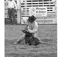 Calf Roping Photographic Print