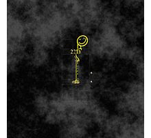 Smile! You're at 221B - yellow, foggy Photographic Print