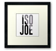 Iso Joe Johnson Framed Print