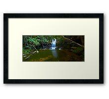 The Bottom Pool - Terrace Falls Framed Print