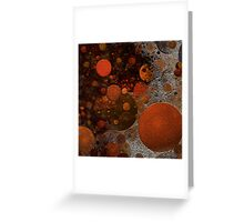 Bubbles textured Greeting Card