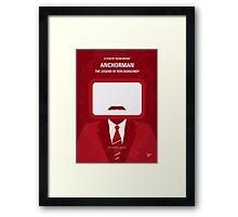 No278 My Anchorman Ron Burgundy minimal movie poster Framed Print