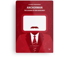 No278 My Anchorman Ron Burgundy minimal movie poster Metal Print