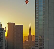 Balloons Over St Pat's by TeaCee