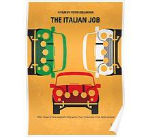 No279 My The Italian Job minimal movie poster Poster