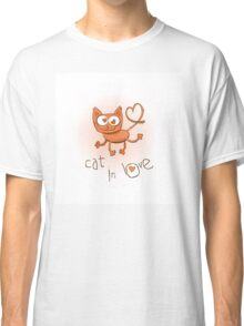 Cat in love. Classic T-Shirt