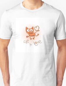 Cat in love. Unisex T-Shirt