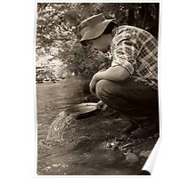 Panning on Retreat River Poster