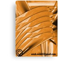 Distorted pipe Canvas Print