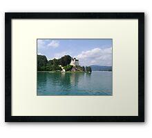 Castle on the Lake Framed Print