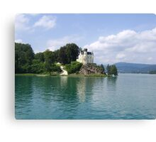 Castle on the Lake Canvas Print