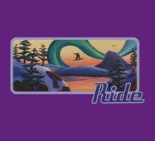 Ride Snowboarder Tee by Sarah  Mac