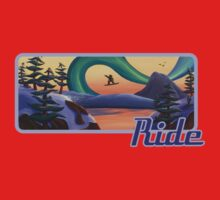 Ride Snowboarder Tee Kids Clothes