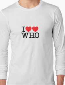 I ♥♥ WHO (light) Long Sleeve T-Shirt