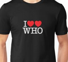 I ♥♥ WHO (dark) Unisex T-Shirt