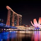 Marina Bay Skyline (Night) by Mark Lee