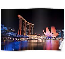 Marina Bay Skyline (Night) Poster