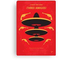 No285 My Three Amigos minimal movie poster Canvas Print