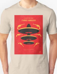 No285 My Three Amigos minimal movie poster T-Shirt