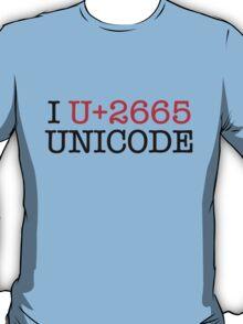 I U+2665 UNICODE (light) T-Shirt