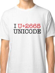 I U+2665 UNICODE (light) Classic T-Shirt