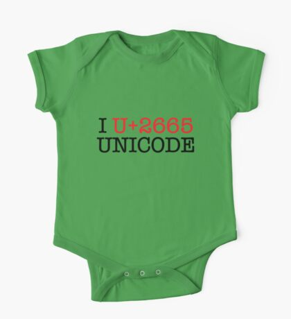 I U+2665 UNICODE (light) Kids Clothes