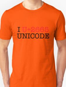 I U+2665 UNICODE (light) T-Shirt